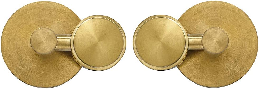 Square Brushed Gold Pivot Mirror Hardware Tilting Anchors for Mirror or Pictur..