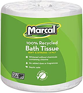 product image for Marcal 6079 Bath Tissue, 2-Ply, 336 Shts/Roll, 48 Rolls/CT, White