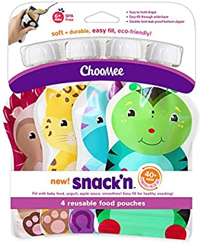 ChooMee Pochette Gourds Réutilisable Our Aliments pour bébés 5 oz 4 unités