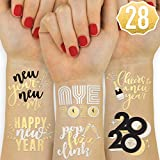 xo, Fetti New Years Eve Party Supplies Tattoos - 24 Glitter Styles | NYE Party Favors, Happy New Year Decorations, NYE 2020 Decor
