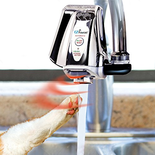 iTouchless Automatic Bathroom Sink Faucet, Touchless Cat/Dog Water Fountain for Sink, Touch-Free, Easy Attachment