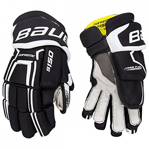 - Bauer Supreme S150 Junior Hockey Glove - Black/White - 10