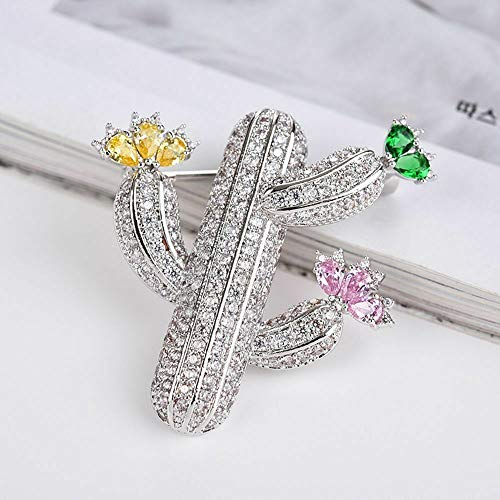 Lovely Rhinestone Cactus Metal Brooch Lapel Pin Fashion Jewelry Fashion Jewelry Daily Creation Beauty Party Girls Woman Cheap Style Accesories Styling Delicate