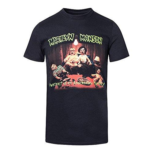 Marilyn Manson T Shirt American Family Mens Black Official Logo