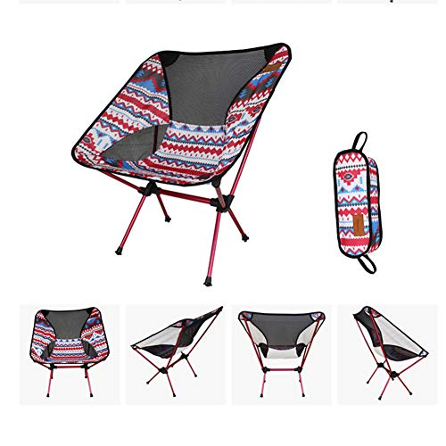 MOIMK Outdoor Faltstuhl, Portable Faltstühle Aluminum Camping Travel Chair Fishing Hiking Stool Falten Beach Chairs (Hold bis 242lbs),B