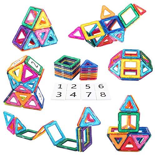 AMOSTING Magnetic Building Blocks Present Package Toy Tiles Bricks Kit