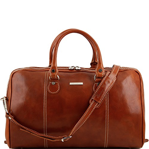 Tuscany Leather Paris Travel leather duffle bag Honey by Tuscany Leather