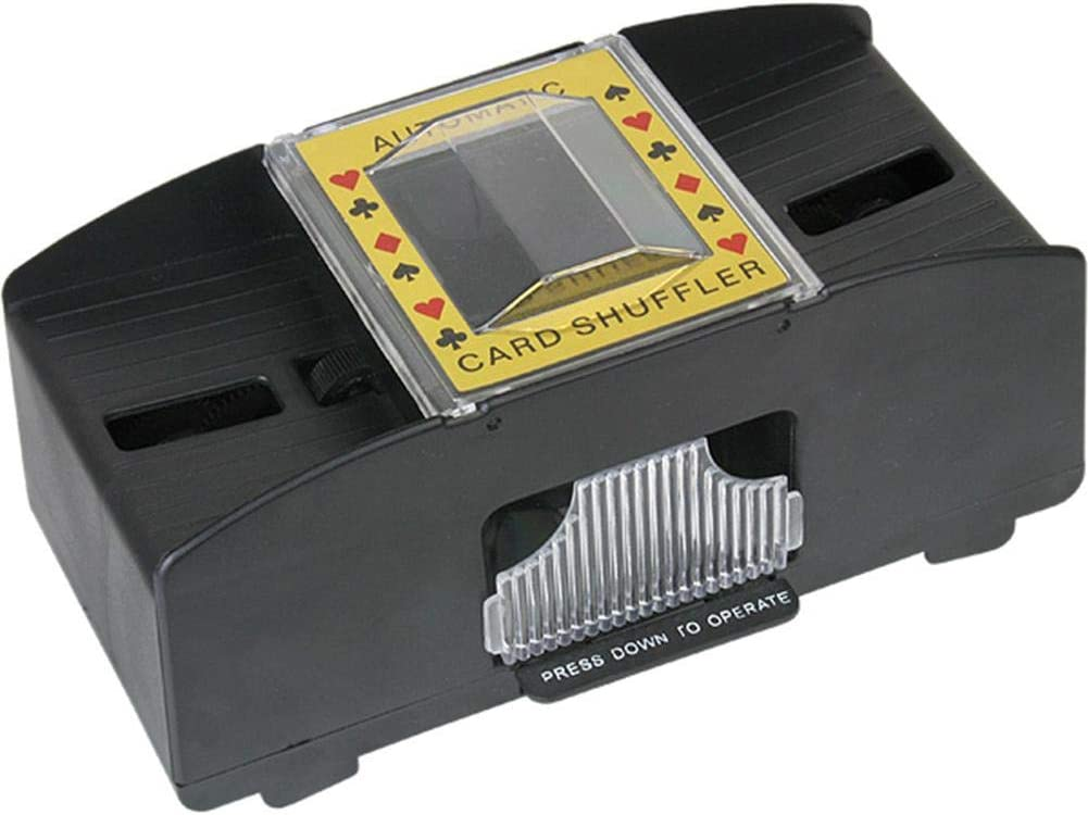 Automatic Card Shuffler 2 Deck Lamptti Automatic Card Shuffler Electronic Card Sorter Card Shuffler Board Game Poker Playing Cards Wooden Electric Shuffler Battery Operated