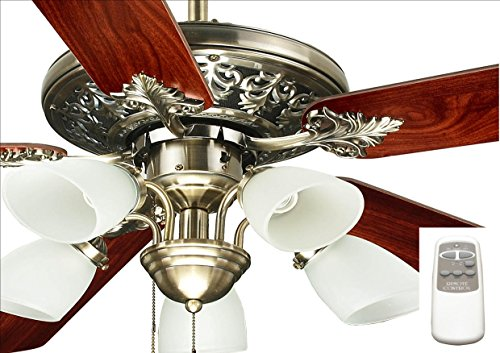 Ocean Lamp OL52016-C Immaculate Decorative Ceiling Fan W/Light& Remote ()