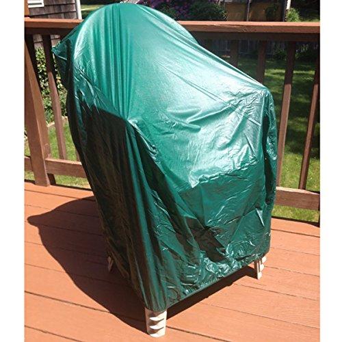 h Vinyl Waterproof Durable Outdoor Patio Chair Cover, Green (Vinyl Patio Furniture Covers)