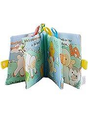 Babydoek Boeken Soft Nontoxic Stof Early Education Toys Activity Crinkle Doek Boek Voor Peuter Baby's En Kinderen 1pc Sheep