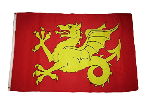 (ALBATROS 3 ft x 5 ft Wessex Dragon England West Saxons Kingdom Premium Flag Banner Grommets for Home and Parades, Official Party, All Weather Indoors Outdoors)