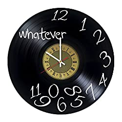 Whatever - design vinyl record wall clock - gift idea for men and women - home & office rest room bedroom wall decor - customize your clock
