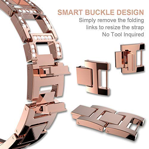 ITSHINY Apple Watch Strap 38mm 42mm, Adjustable Fashion Iwatch Bands Women, Replacement Metal Sport Strap Accessories Iwatch Series 3 2 1, Nike+, Edition (38mm, Rose Gold)