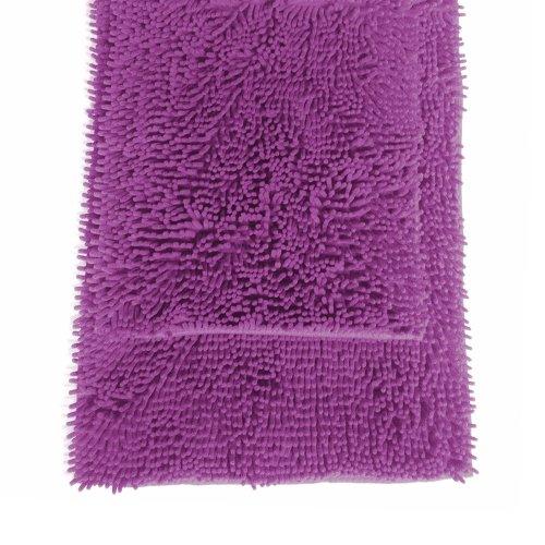 (2 Pc Purple High Pile Microfiber Bath Mat Rug Set 20