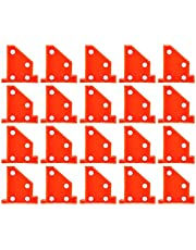 Hardwood Flooring Tool, Triangular Shape Design Building Supplies Plastic Materials Reusable with 20Pcs for Floor Installation