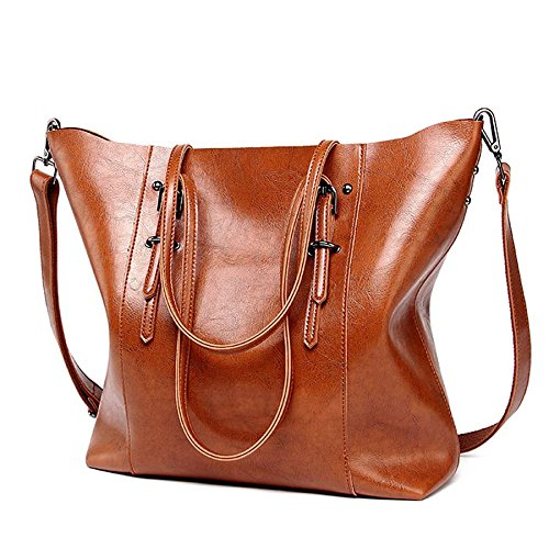 2018 Hot Luxury Brand Women Shoulder Bags Big Bucket Bag Soft Pu Leather Female Casual Tote Wild Messenger Bag Casual Ladies Handbag (Color - Prices Prada Watches