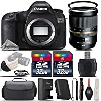 Canon EOS 5DS DSLR 50.6MP Full-Frame CMOS Camera + Tamron 24-70mm 2.8 VC Lens + 64GB Storage + Wrist Grip Strap + Case + UV Filter + Card Reader + Air Cleaner - International Version