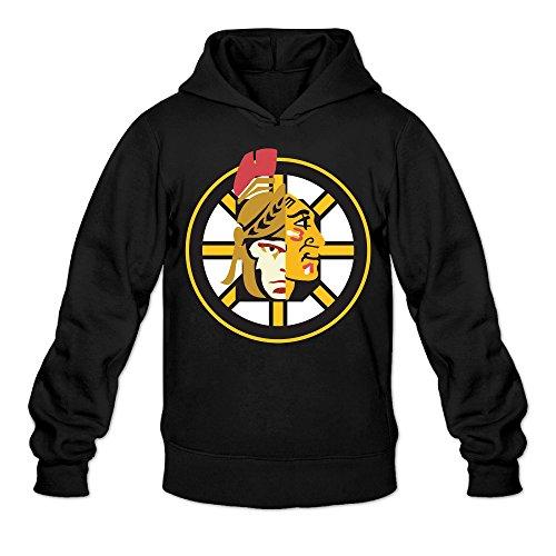 Augu Men Boston Cleveland Chicago Sports Hooded Sweatshirt Black