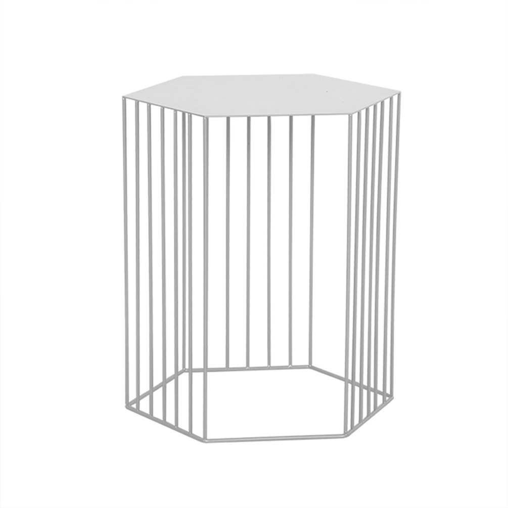 CSQ 創造的なコーヒーテーブル、北ヨーロッパのスタイルのリビングルーム鉄のアートソファのテーブルコーナーテーブル装飾品を交渉するいくつかの装飾的なバルコニーカジュアルな読書テーブル (色 : 白, サイズ さいず : 38*45CM) B07F241B81 38*45CM|白 白 38*45CM