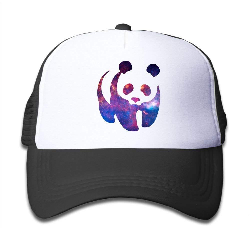 FEAIYEA Funny Space Panda Kids Snapback Adjustable Mesh Baseball Hats