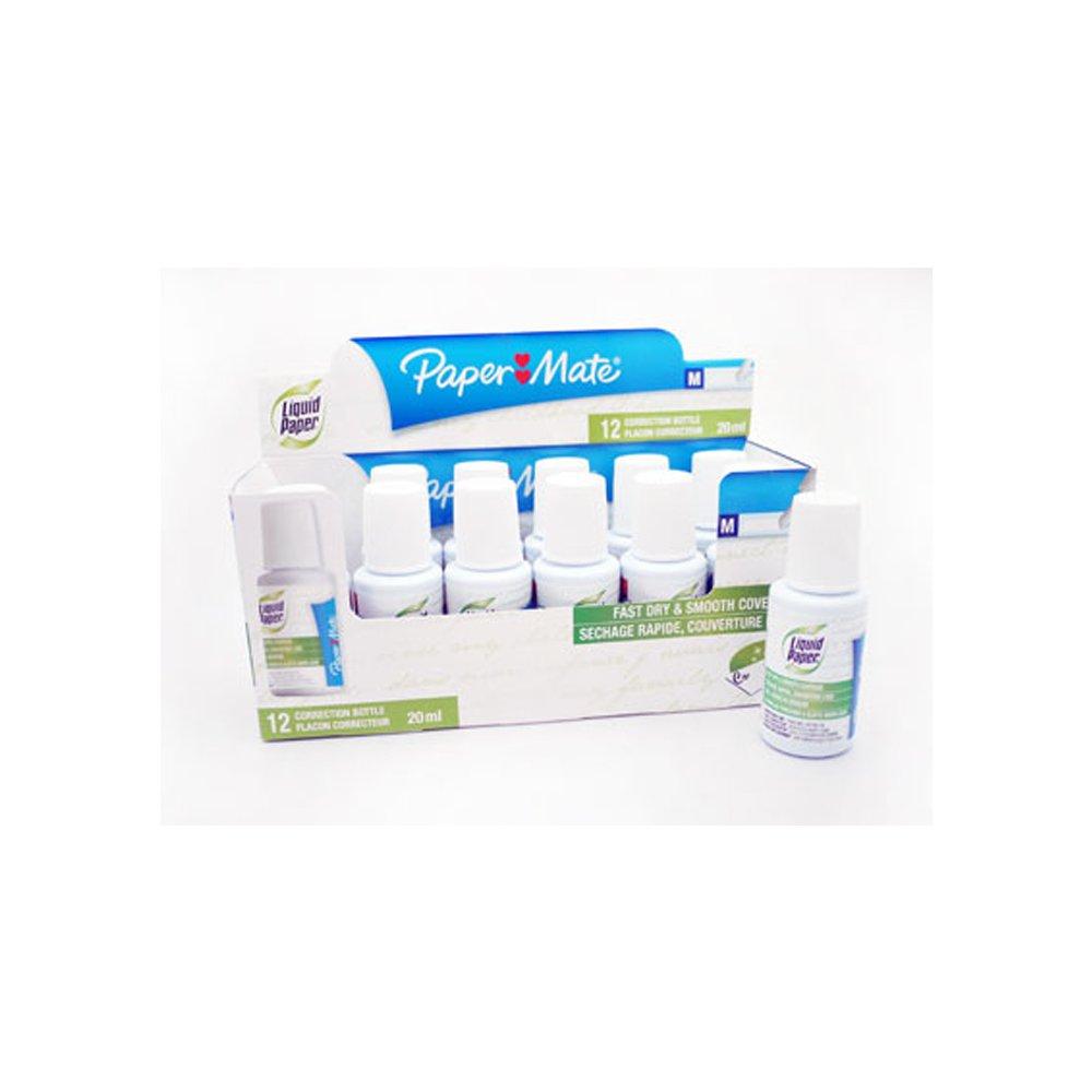 Papermate Liquid Paper Correction Fluid x 12 Pots - £1.11 per pot ex VAT - Tipex - UKB607