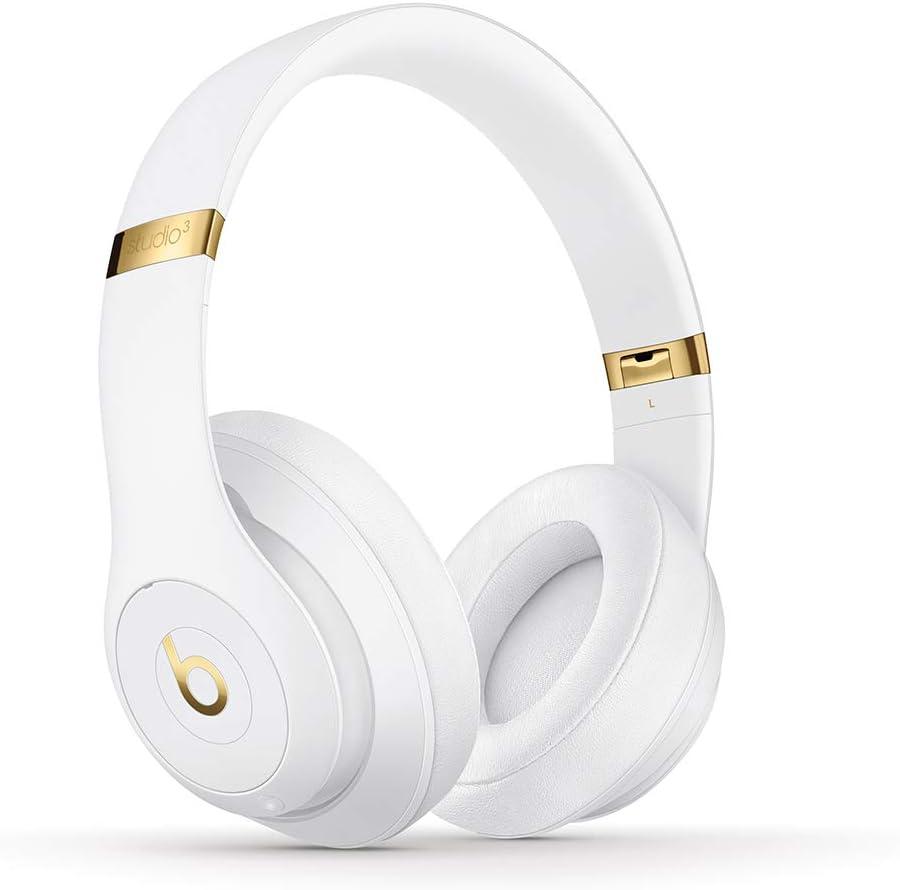 BeatsStudio3Wireless con cancelación de ruido - Auriculares supraaurales - Chip Apple W1, Bluetooth de Clase1, cancelación activa del ruido, 22horas de sonido ininterrumpido - Blanco