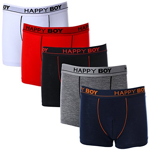 Toddler Boxer Briefs Short Leg Soft Cotton Boxers Pack 5 ()