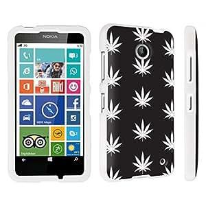 DuroCase ? Nokia Lumia 635 Hard Case White - (Black Plants)