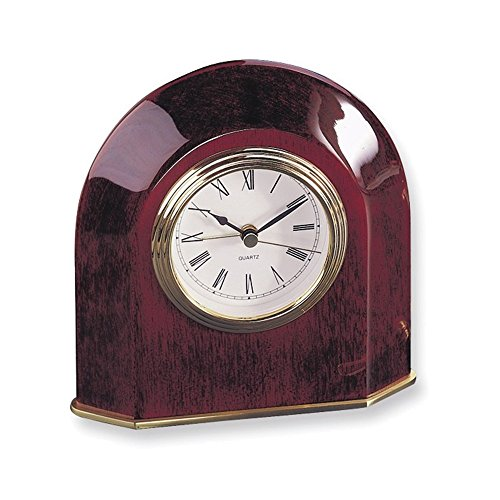 (Jewelry Adviser Gifts Rosewood Finish Arch Table Clock)