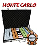 1000pcs 14g Monte Carlo Poker Club Poker Chips Set with Aluminum Case Custom Build