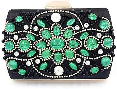 グリーンクリスタルダイヤモンドイブニングトート、ウェディングクラッチバッグ小銭入れ、女性のハンドバッグ、ブライダルメタルクラッチ 美しいファッション