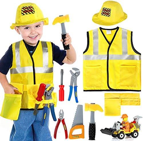 Tacobear Obrero Disfraz para niños Disfraz Trabajador Construcción ...