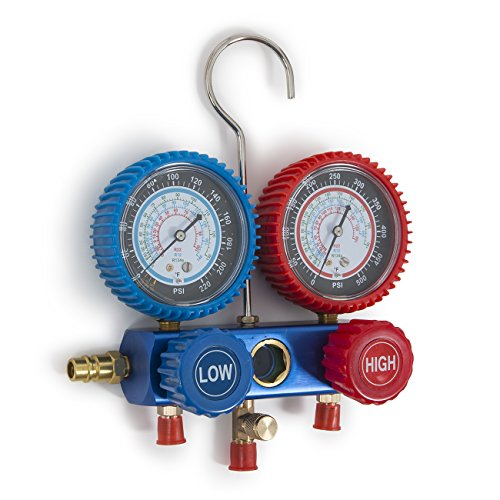 ARKSEN 4CFM Vacuum Pump, Manifold Gauge for R134A Air Condition Refrigerant with Carrying Tote Set by ARKSEN (Image #2)