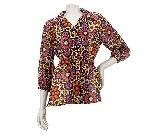 Olio Tile Print Tunic with Tie Belt (Louis Tile)