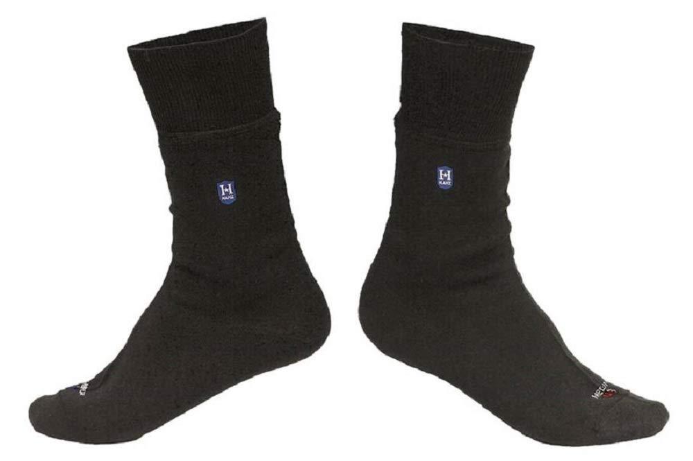 Hanz Lightweight Waterproof Socks: Crew-length, Black M by Hanz