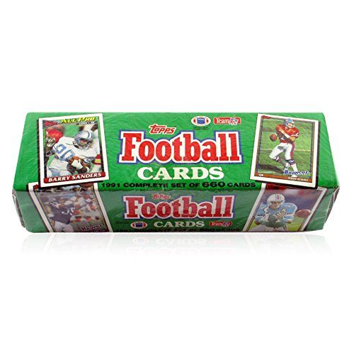 - 1991 Topps NFL Football Cards Unopened Factory Set (660 different cards) - Includes Rookie Cards and cards of top NFL stars including Emmitt Smith, John Elway, Barry Sanders, Dan Marino, Joe Montana, Jerry Rice, Troy Aikman, and dozens of other top superstars!