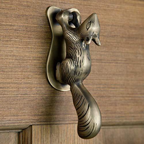 Signature Hardware 266292 Squirrel 6-1/2 Inch Tall Solid Brass Door Knocker (Brass Squirrel)