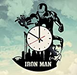 Iron Man superhero decor vinyl record wall clock Review and Comparison
