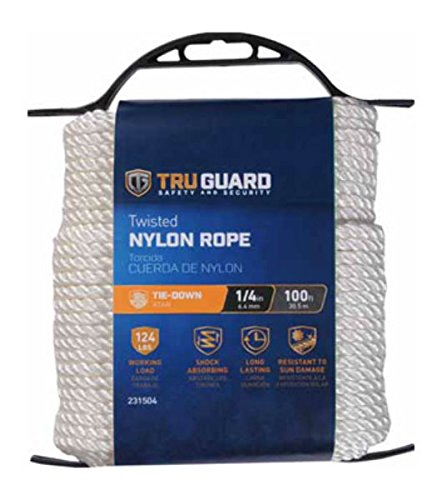 MIBRO Group (The) 642251 Twisted Nylon TG 1/4x100 WHT NYL Rope ()