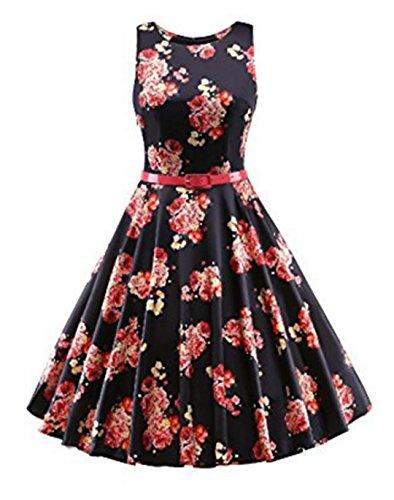 YOGLY Damen Kleide Modisch VintageKleid Abendkleider Cocktailkleider  Brautkleid Cocktailkleid Ballkleid Minikleid Sommerkleid Partykleider  Schwarz ... ac7dd7ffc0