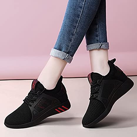 GUNAINDMX Zapatillas de Deporte/Zapatillas de Running/Espring/Shoes/Aire/Todo a Parche/Ocio, Thirty-Five,333-5 Black, Female Models: Amazon.es: Deportes y aire libre