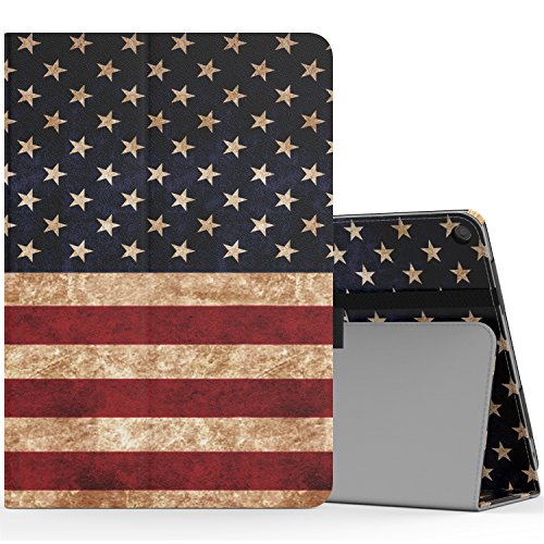 Verizon ASUS ZenPad Z10 Case, MoKo Ultra Compact Slim Folding Stand Cover Case with with Auto Wake / Sleep & Built-in Hand Strap for ASUS ZenPad Z10 (ZT500KL) 9.7 Verizon Tablet 2016, US Flag