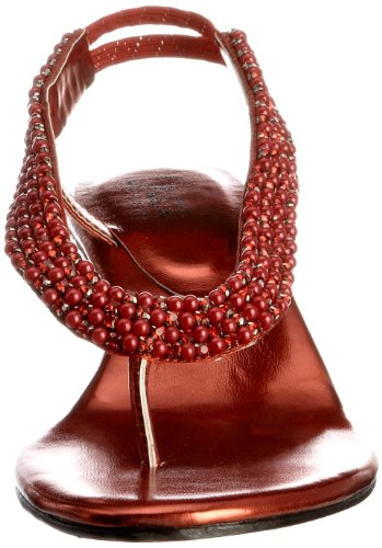 Unze Evening Sandals L18406W - Sandalias para mujer Rojo
