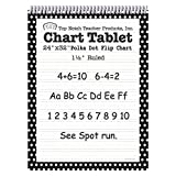 Top Notch Teacher TOP3849BN Dot Chart Tablet, Black, 1.5'' Rule, MultiPk 2 Each