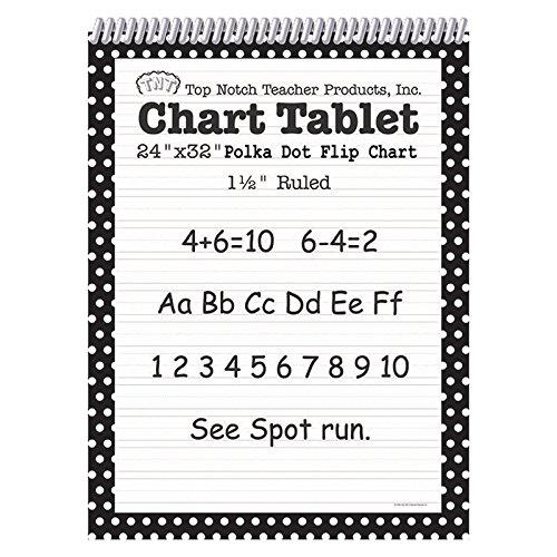 Top Notch Teacher TOP3849BN Dot Chart Tablet, Black, 1.5'' Rule, MultiPk 2 Each
