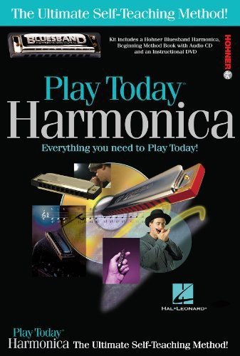 703707 Play Harmonica Today Complete Kit with Book/CD/DVD/Hohner Bluesband Harmonica