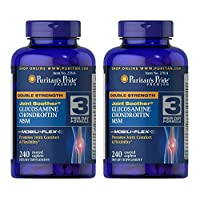Puritan's Double Strength Glucosamine Chondroitin & MSM Joint Soother 240 Caps (2 Pack)