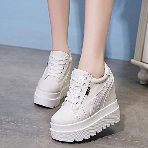 Están GTVERNH Bizcocho white Gruesos Bajos De Fashion Con Calzado Shoes Casual Zapatos Aumentando Zapatos Mujer La High Con Ultra r8rRq