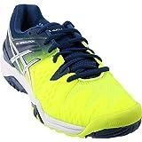 ASICS Men's Gel-Resolution 6 Tennis Shoe, Safety Yellow/White/Poseidon, 7 M US